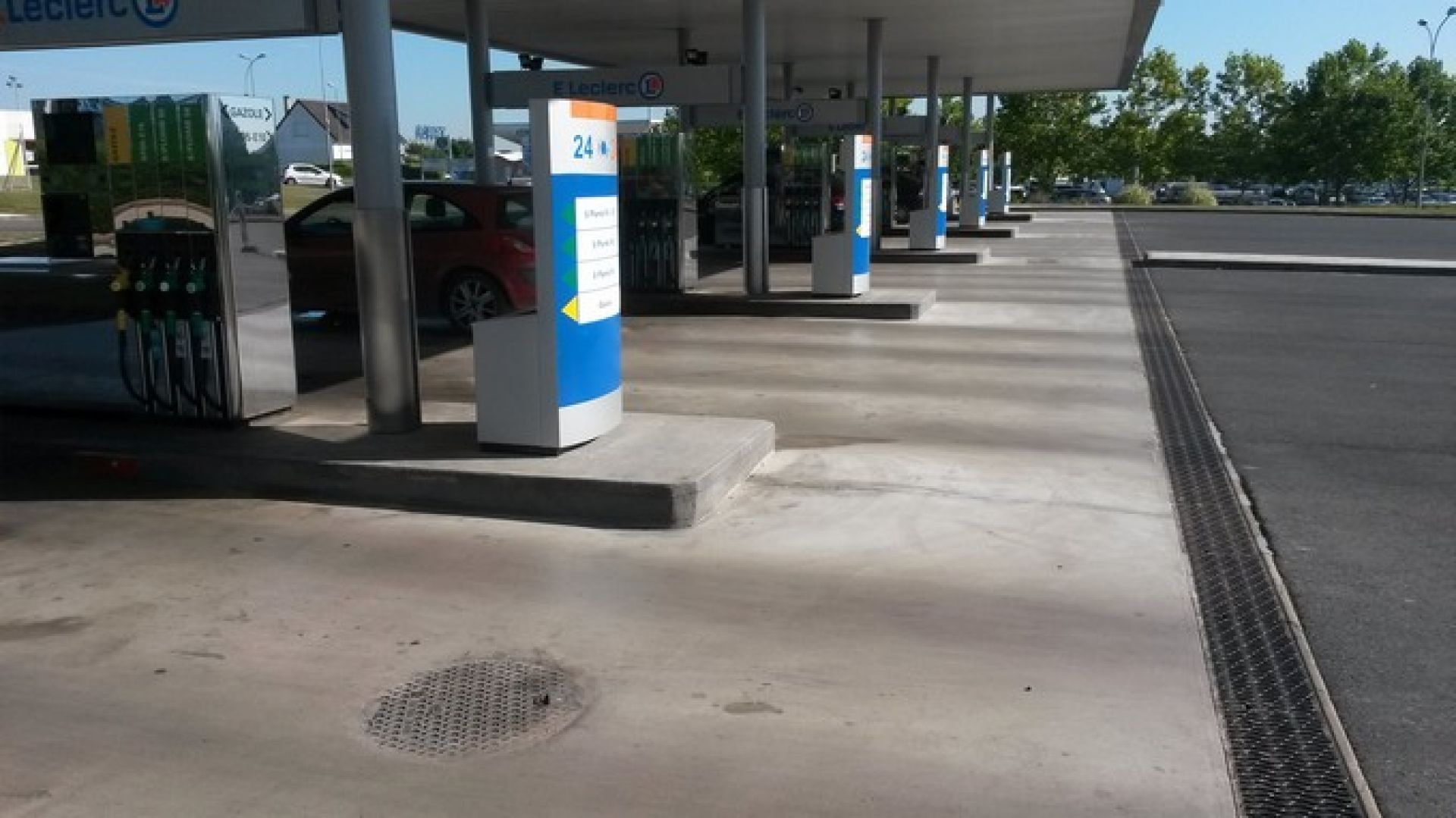 Industrial Floor At Gas Station